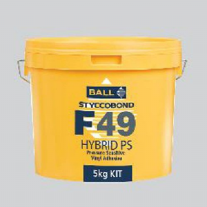 F Ball Styccobond F49 5 Kg Hybrid PS Temperature Tolerant Pressure Sensitive Vinyl Adhesive